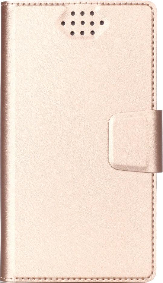 Чехол-книжка Vili универсальный размер S 3,4-4,3 Gold