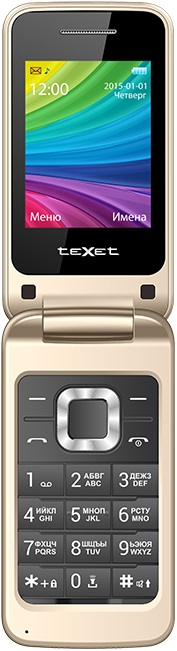 Мобильный телефон teXet TM-204 Dual sim Beige мобильный телефон texet tm 501 red 2 8 240x320 2g 3g bt 0 3mp