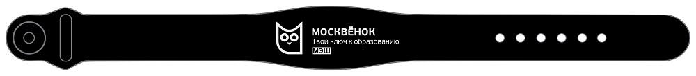 Браслет RFID Москвенок WCH PR1 RU силиконовый Black фото