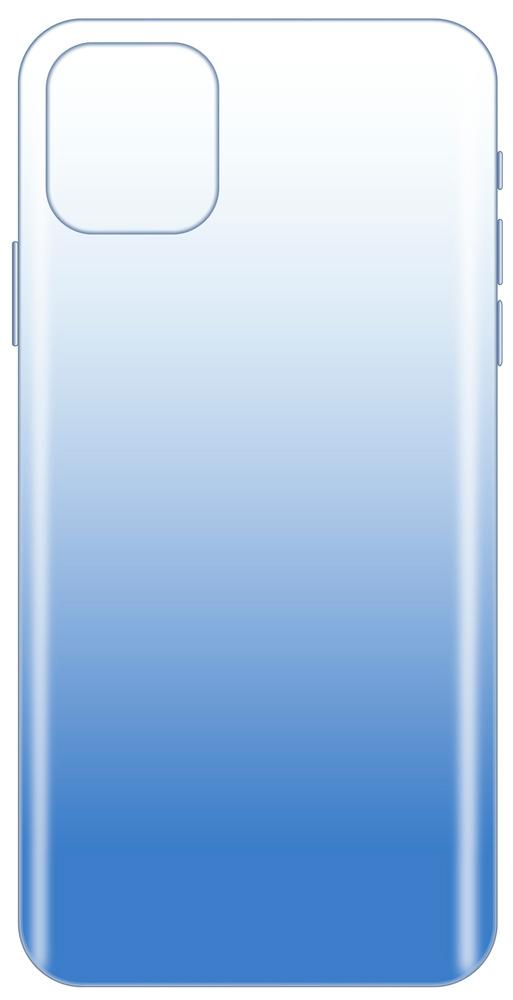 Клип-кейс LuxCase iPhone 11 прозрачный градиент Blue фото