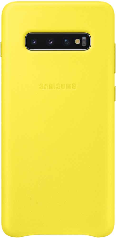 Клип-кейс Samsung Galaxy S10 Plus EF-VG975L кожа Yellow