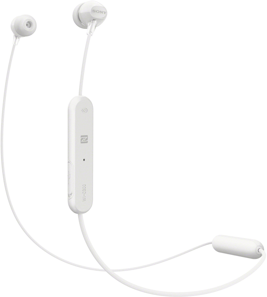 Беспроводные наушники с микрофоном Sony WI-C300W White фото
