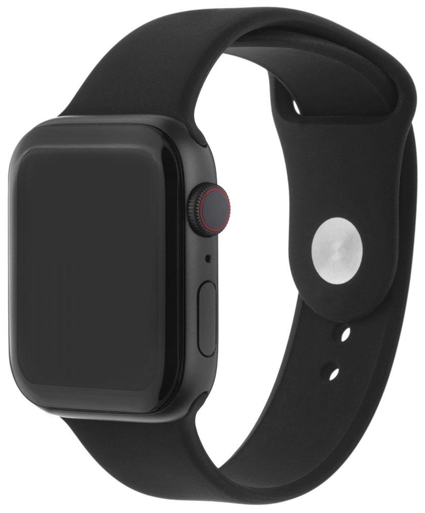 Ремешок для умных часов InterStep Sport Apple Watch 42/44мм силиконовый Black фото