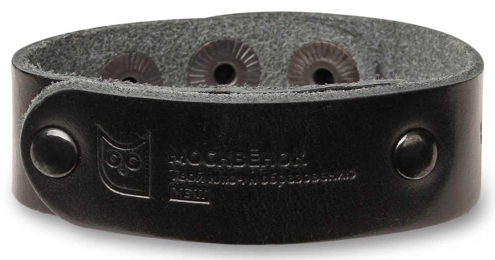 Браслет RFID Москвенок WCH PS1 RU кожаный Black браслет москвенок wochi p со встроенным чипом размер s желтый