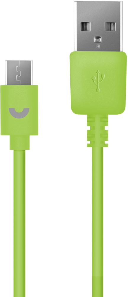 Дата-кабель PrimeLine USB-microUSB 1,2м Green