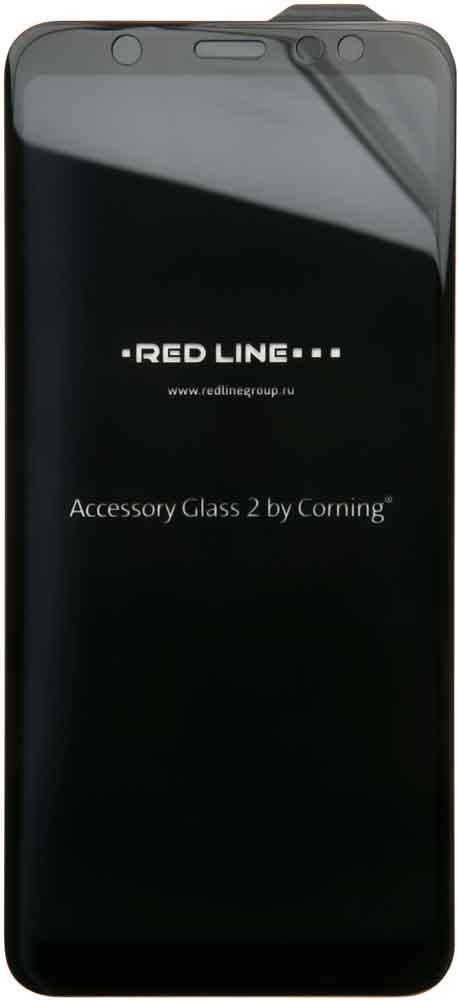 Стекло защитное RedLine Corning для Samsung Galaxy A6 Plus 3D черная рамка фото