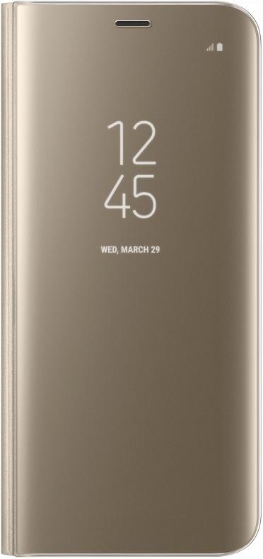 Чехол-книжка Samsung Galaxy S8 Clear View Standing Cover Gold (EF-ZG950CFEGRU) аксессуар чехол samsung galaxy s8 clear view standing cover gold ef zg950cfegru