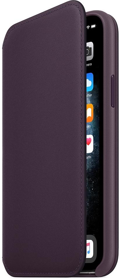 Чехол-книжка Apple iPhone 11 Pro MX072ZM/A кожаный темно-фиолетовый фото