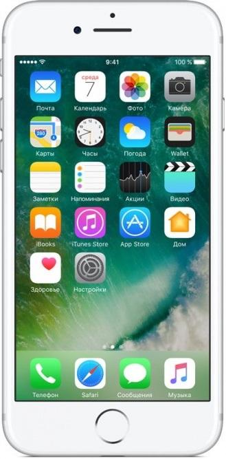 Смартфон Apple iPhone 7 32GB Silver (MN8Y2RU/A)