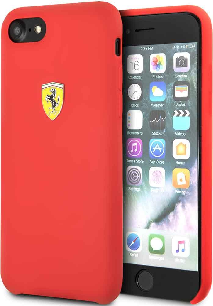 Клип-кейс Ferrari для iPhone 7/8 силикон Red назначение iphone x iphone 8 iphone 7 iphone 6 кейс для iphone 5 чехлы панели с узором задняя крышка кейс для цветы мягкий термопластик
