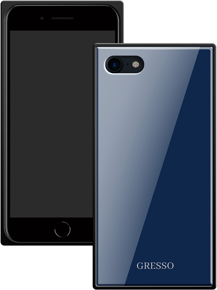 Клип-кейс Gresso Glass Apple iPhone 8/7 прямоугольный Blue клип кейс gresso glass edge для apple iphone xr гуайра