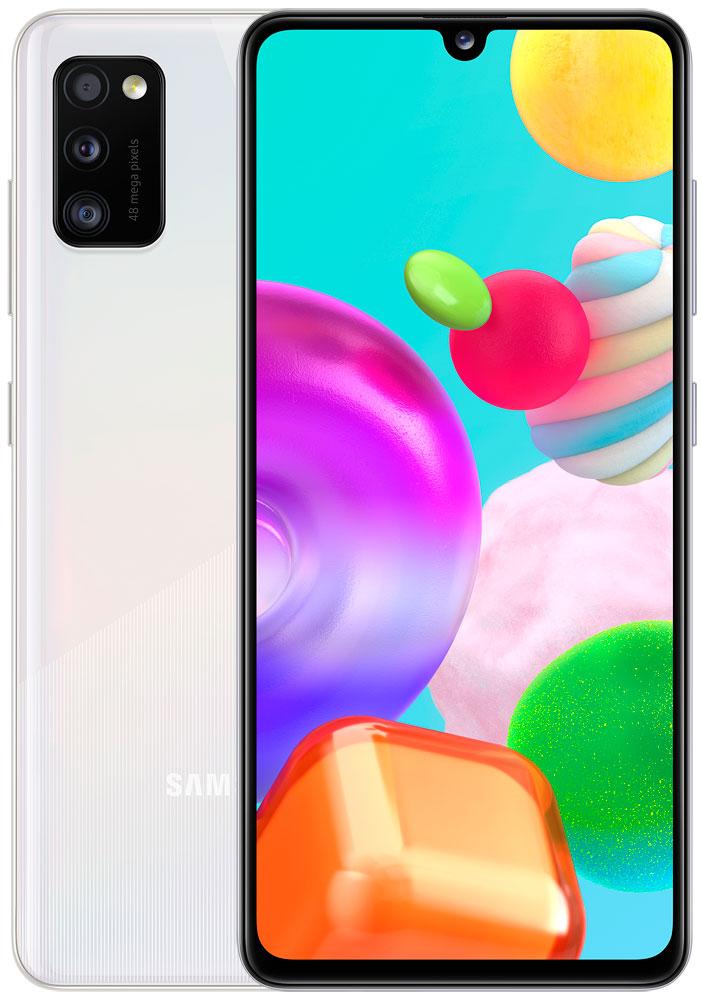Смартфон Samsung A415 Galaxy A41 4/64Gb White фото