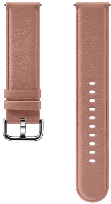 Ремешок для умных часов Samsung Galaxy Watch Active ET-SLR82M кожаный Pink