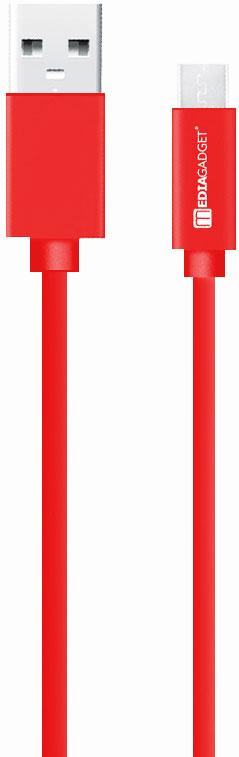 Дата-кабель MediaGadget MU-001 USB-microUSB 1,2м Red red line magnetic gold магнитный дата кабель usb microusb
