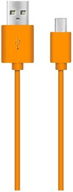 Дата-кабель Nobby DT-005 USB - micro-USB Orange дата кабель nobby dt 005 usb microusb 1м green