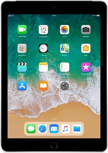 Планшет Apple iPad 2018 9.7 32Gb Wi-Fi + Cellular Grey (MR6N2RU/A)