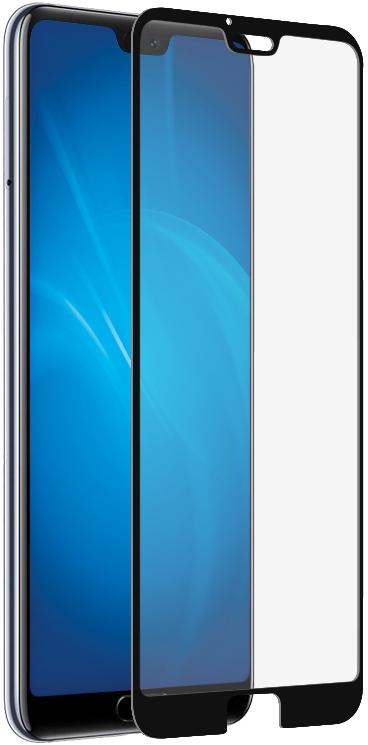 Стекло защитное DF Honor 10 3D черная рамка фото