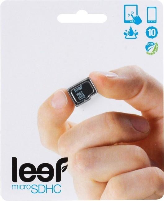 Карта памяти MicroSDHC Leef 32Gb Class 6 без адаптера Black карта памяти leef microsdhc class 10 8gb
