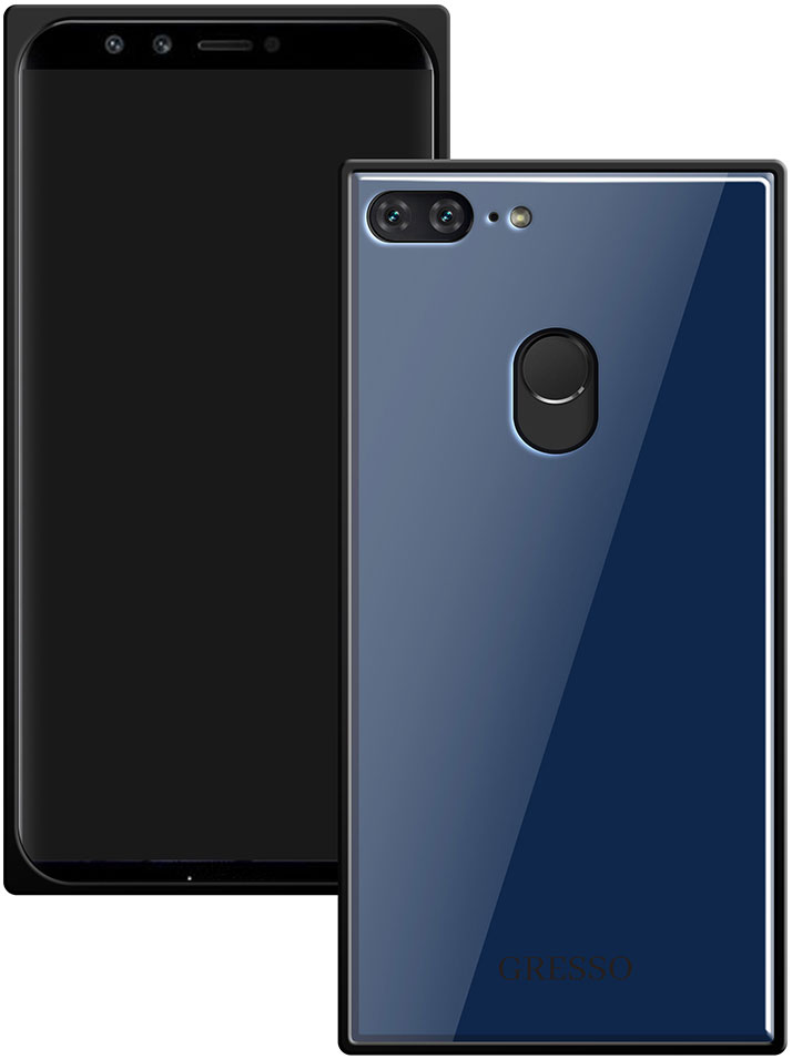 Клип-кейс Gresso Glass Honor 9 Lite прямоугольный Blue